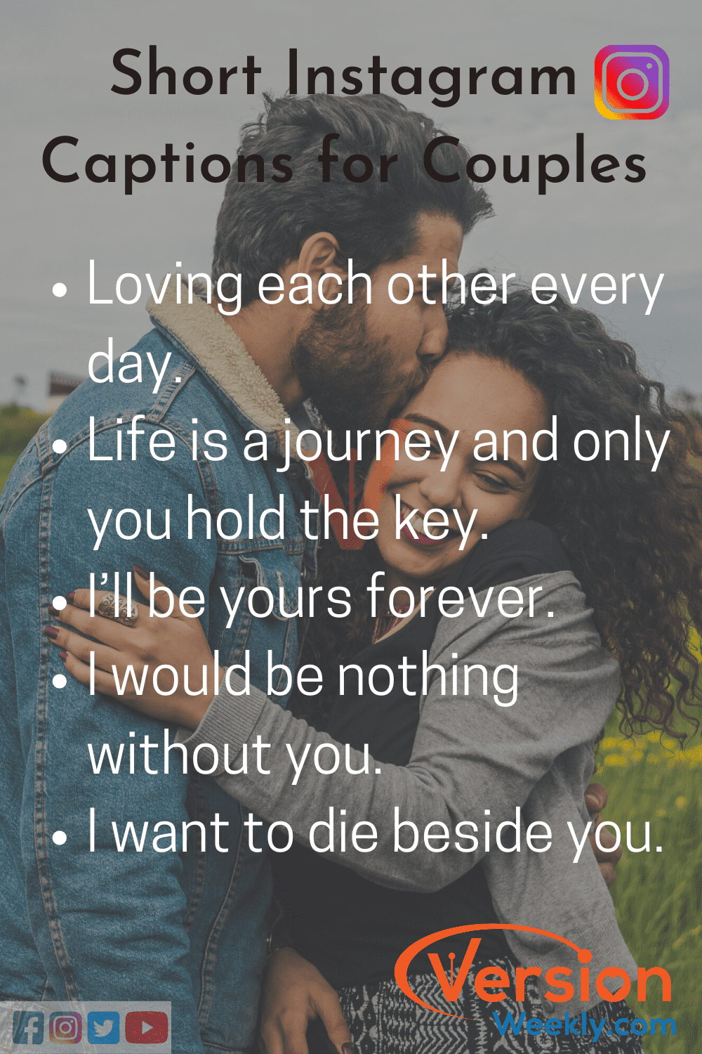 100 Best Love Captions For Instagram Cool Cute Romantic Instagram Love Quotes For Him Her Relationship Pics Version Weekly